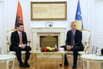 Acting FM visits Kosovo, says Albania is ready to remove border