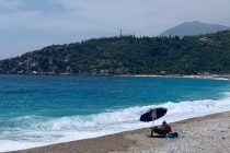 The 'empty' beach of Livadh
