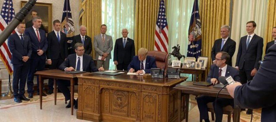 Kosovo & Serbia sign U.S-mediated agreement