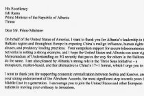 Trump urges Albania to exit 17+1 and move embassy to Jerusalem