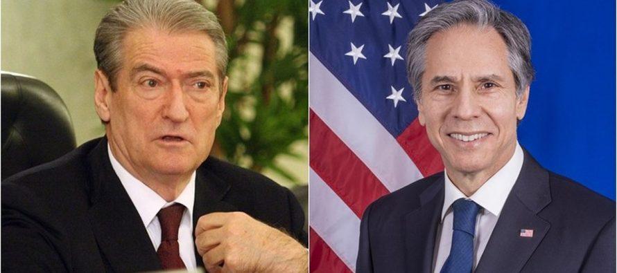 Sali Berisha intends to sue US Secretary of State Antony Blinken for defamation